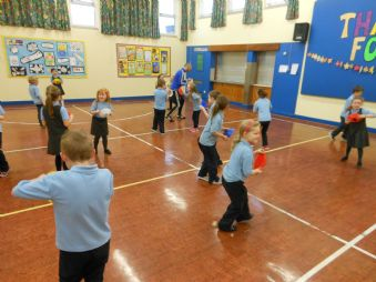 P3 Enjoying PE sesions with IFA coach Mo McDowell